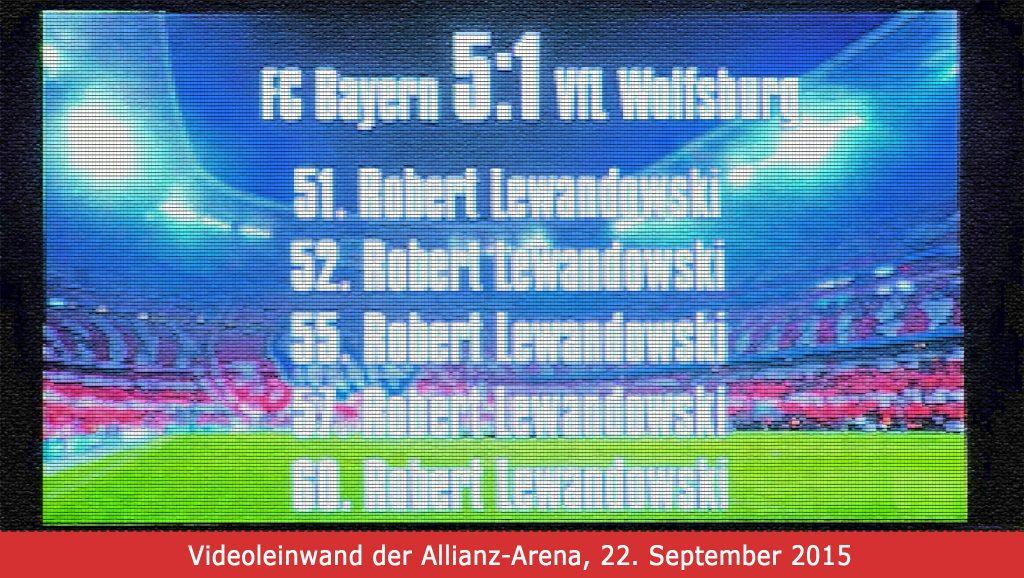 Videoleinwand der Allianz Arena