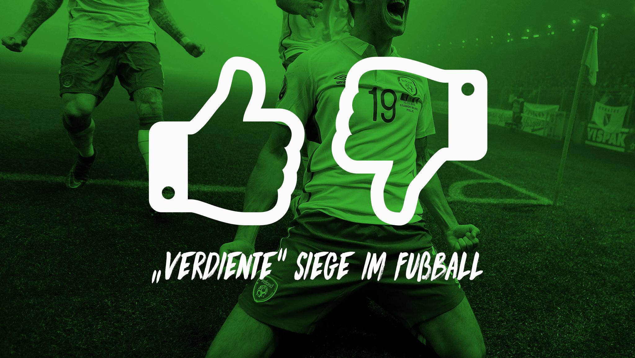 """""""VERDIENTE"""" SIEGE IM FUßBALL"""